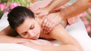 Back massage with a herniated spine