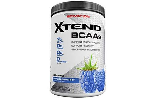 5. Scivation Xtend BCAA Powder, Branched Chain Amino Acids, BCAAs, Blue Raspberry