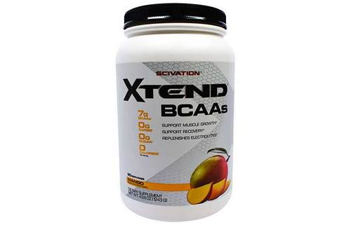 7. Scivation Xtend BCAA Powder, Branched Chain Amino Acids, BCAAs, Mango