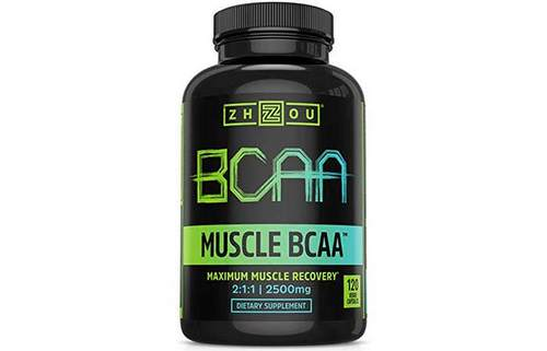 8. Zhou Nutrition Muscle BCAA – Branched Chain Amino Acids with Optimal 2:1:1 Ratio