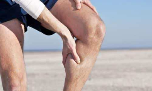 Features and treatment of muscle hernias of the leg
