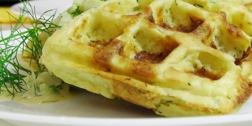 Картофельные вафли, рецепт