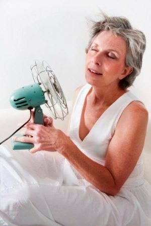 The severity of the headache during menopause treatment