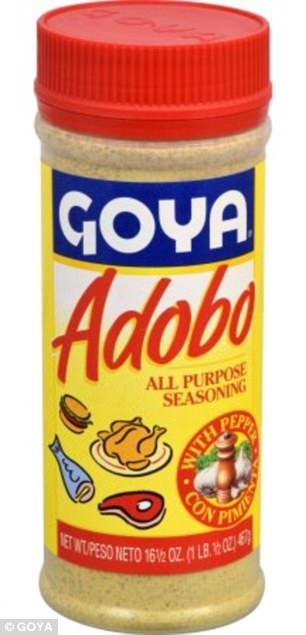 Salmonella contamination is suspected in Goya's Adobo seasoning with pepper, a staple in Puerto Rican cooking
