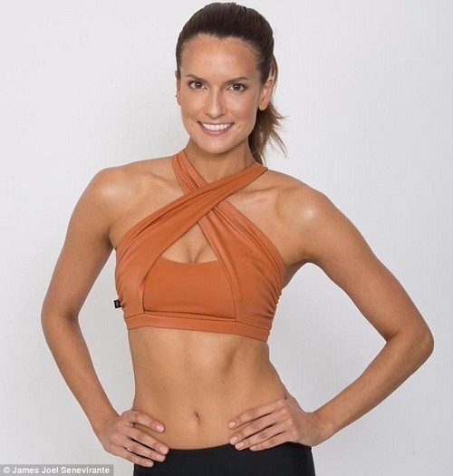 Celebrity personal trainer Tegan Haining (pictured) says her new book is about getting back to basics.