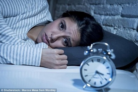 Getting just six hours sleep a night raises people's risk of depression by up to 80% (stock)