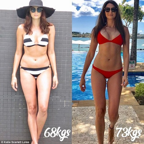 'Training isn't a chore, it has become a way of life. I don't diet, I make healthy choices and my weight no longer governs my idea of success,' Katie said