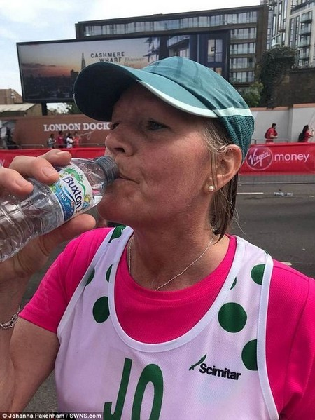 Johanna Pakenham was left fighting for her life in a coma after drinking too much water during the London Marathon. This caused her to suffer from abnormally low sodium levels