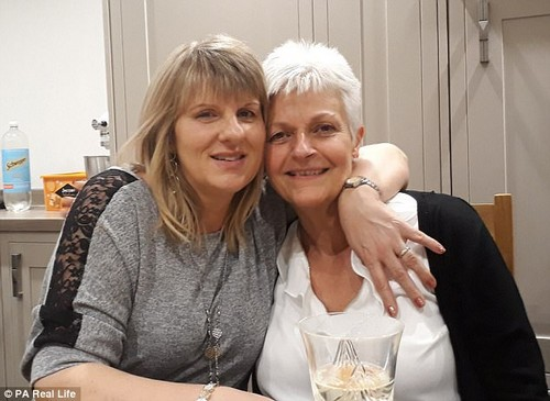 Nicky Turkoz, right, was diagnosed with acute myeloid leukaemia in December 2014 ¿ here she is pictured with her donor Annette Hamson