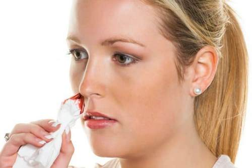 When pressure bleeding from nose, treatment