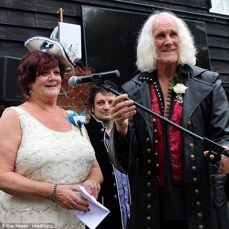 She said shelost a lot of so-called friends 'who thought I was lying when I couldn't attend their wedding or whatever'. Pictured: Sue with her husband Mick
