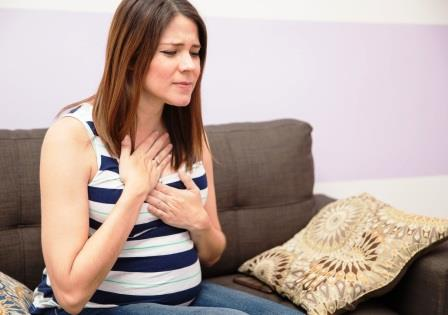 Treatment of heartburn, during pregnancy