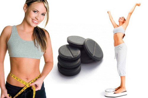 Activated charcoal slimming