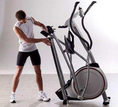 Folding elliptical trainer