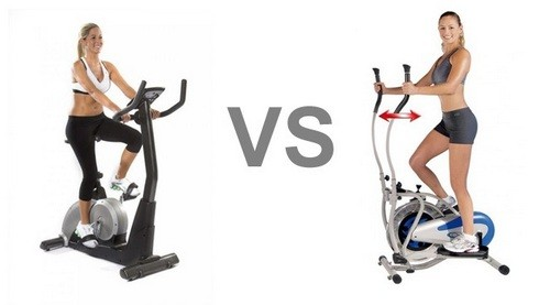 Exercise bike or elliptical trainer
