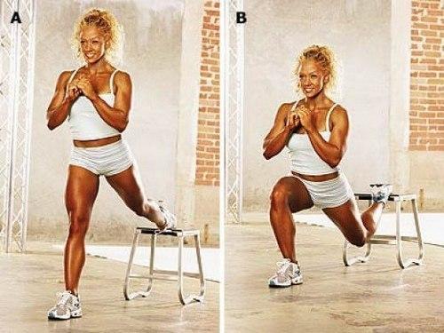 Squat exercises at different levels