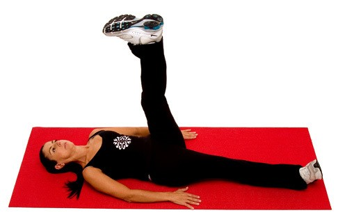 Leg rotation exercise