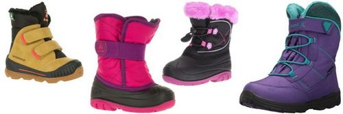 Winter shoes for children, boots overview